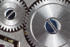 The internal clock mechanism. Stock Photography