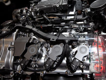 Internal combustion engine. Car internal combustion engine details stock image