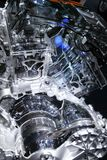 Internal combustion engine. Sectional view of internal combustion engine stock photos