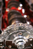 Internal combustion engine. Timing belt stock images
