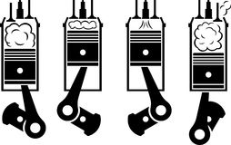 Internal combustion engine Stock Image