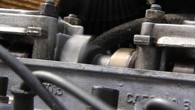 Internal combustion engine. Driving shaft stock footage