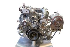 Internal combustion engine. Front view of modern internal combustion engine of the truck stock photos