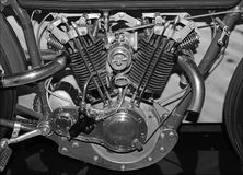Internal combustion engine from motorcycle. Close up of internal combustion engine from motorcycle royalty free stock image