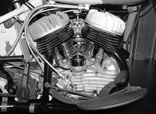 Internal combustion engine from motorcycle. Close up of internal combustion engine from motorcycle royalty free stock photo