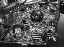 Internal combustion engine from motorcycle Royalty Free Stock Images