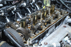 Internal combustion engine. With a shallow depth of field royalty free stock image
