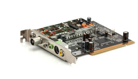 Internal computer board TV tuner Royalty Free Stock Photos