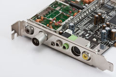 Internal computer board TV tuner Stock Photos