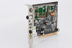 Internal computer board TV tuner Stock Image