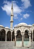 Internal court yard of Blue mosque. In Istanbul royalty free stock images