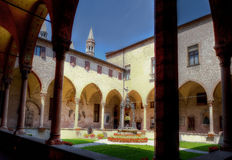 Internal courtyard Saint Anthony monastery, Padua, Italy Royalty Free Stock Photography