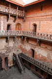 Internal courtyard of the Trakai medieval castle Royalty Free Stock Images