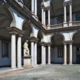 Internal courtyard view of Pinacoteca di Brera, Milan Royalty Free Stock Images