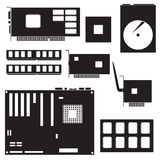 Internal desktop computer components Royalty Free Stock Images