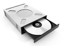 Internal disc drive. 3D illustration Royalty Free Stock Photos