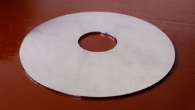 Internal disk inside a  hard disk drive Royalty Free Stock Photography