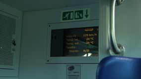Internal Display of a Passenger Train stock footage