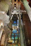 Internal elements and details temple Sagrada Familia Royalty Free Stock Images