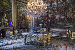 Internal Emperor apartment, Fontainebleau Stock Images