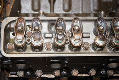 Internal Engine Components. Valve train components of automotive engine Stock Photo