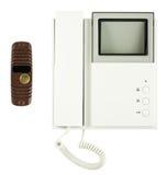 Internal and external video intercom equipment royalty free stock photo