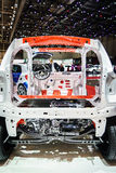 Internal frame car, Motor Show Geneve 2015. Stock Photos