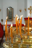 Internal furniture and candlestick of an orthodox temple 4 Royalty Free Stock Image