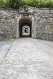 Internal Gate to Old Fortress. Entrance to the abandoned fortress Royalty Free Stock Photography