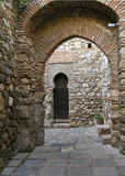 Internal gateway in Alcazaba de Malaga Royalty Free Stock Photos