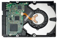 Internal Hard Disc w/ Path (Top View) Stock Image