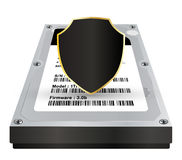 Internal hard disk with a protection data shield Stock Images