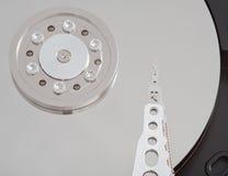 Internal Hard Drive. Close Up of Inside an Internal 3.5 Hard Drive royalty free stock photography