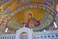 Internal interior of Saint Andrew of Patras. Royalty Free Stock Photography