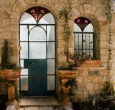 Internal light Rosh-Pina Israel. A facade of building in an old village of Rosh-Pina Israel Stock Image