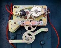 The internal mechanism of old meter stock photos