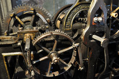 The internal mechanism old Swiss watches_3 Royalty Free Stock Photo