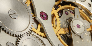 Internal mechanism of watches Royalty Free Stock Images