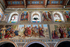 Internal painting of the church of Stephen the First Martyr Royalty Free Stock Photos