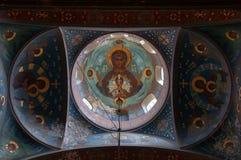 Internal painting of the New AfonAthos Monastery. New Orthodox Monastery, Novy AthosAfon, Abkhazia, September 1, 2016 Royalty Free Stock Images