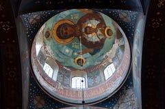 Internal painting of the New AfonAthos Monastery. New Orthodox Monastery, Novy AthosAfon, Abkhazia, September 1, 2016 Royalty Free Stock Photography