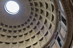 Internal part of dome in Pantheon, Rome Stock Images