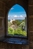 Internal part of Sao Jorge Castle, at the historical centre of L Royalty Free Stock Image
