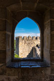 Internal part of Sao Jorge Castle, at the historical centre of L Royalty Free Stock Photo