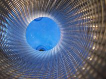 Internal Pipe (Blue) Abstract Royalty Free Stock Photos