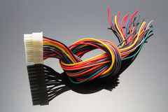 Internal Power Supply Cable. With Reflection Stock Photography