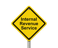 Internal Revenue Service Warning Sign Royalty Free Stock Image