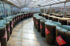 Storage room of vinegar Royalty Free Stock Images