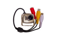 Internal security surveillance camera with night vision LED back Stock Photography