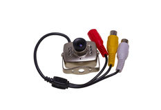 Internal security surveillance camera with night vision LED back Royalty Free Stock Photography